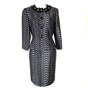 Tahari Cocktail Special Occasion Power Suit Sz 4